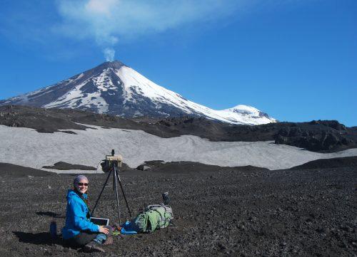 jpg Taryn Lopez uses equipment near Pavlof Volcano on the Alaska Peninsula in 2017